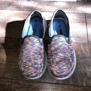 Cool Wave Memory Slip On Foam Rainbow Sneakers